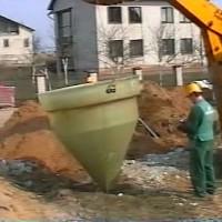 Монтаж установки канализации на поселок