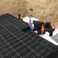 Дренажная система большой мощности на основе дренажного блока GRAF
