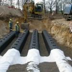 GRAF 300  тоннель дренажный укладка GRAF-CI.RU . Нормы по установки дренажной системы на основе тоннелей Граф
