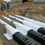 Монтаж и установка дренажных тоннелей Граф. Дренажный тоннель GRAF канализация дачи очистка  сточных вод GRAF-CI.RU (увеличить)