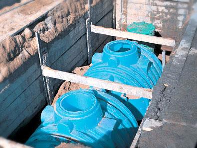 Монтаж септиков объемом 3000 л в автономной канализационной системе