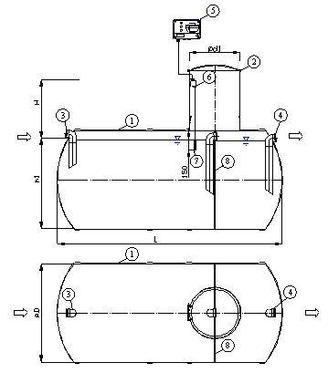 схема Жироуловителя, жироловушки, жироотделителя